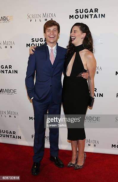 John Karna and Haley Webb arrive at the Premiere of Screen Media Films' Sugar Mountain at the Vista Theatre on December 8 2016 in Los Angeles...
