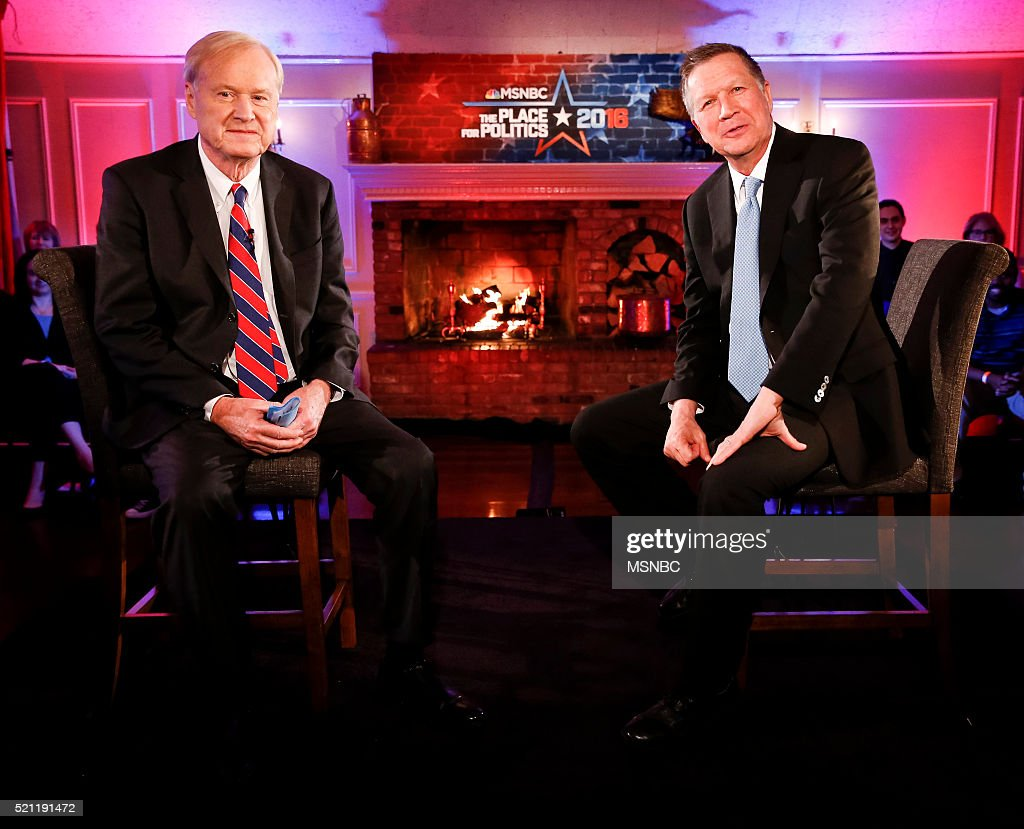 COVERAGE -- John Kasich Town Hall -- Pictured: (l-r) Chris Matthews, John Kasich --