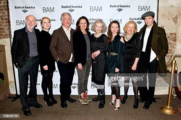 John Kavanagh Cathy Belton Alan Rickman Fiona Shaw Lindsay Duncan Amy Molloy Joan Sheehy and Marty Rea attend the 'John Gabriel Borkman' after party...