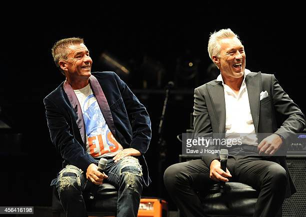 John Keeble and Martin Kemp during a QA at the World Premiere of 'Soul Boys Of The Western World' at Royal Albert Hall on September 30 2014 in London...