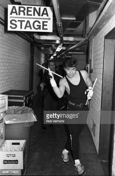 John Keeble of Spandau Ballet backstage Ahoy Rotterdam Netherlands 28th February 1987