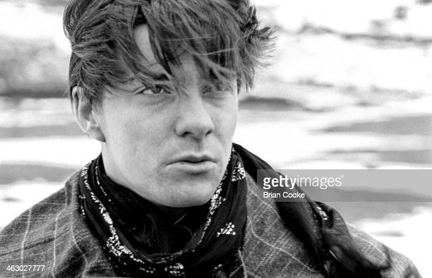 John Keeble of Spandau Ballet photographed on location in the Kirkstone Pass Lake District Cumbria during the shooting of a promotional film for...