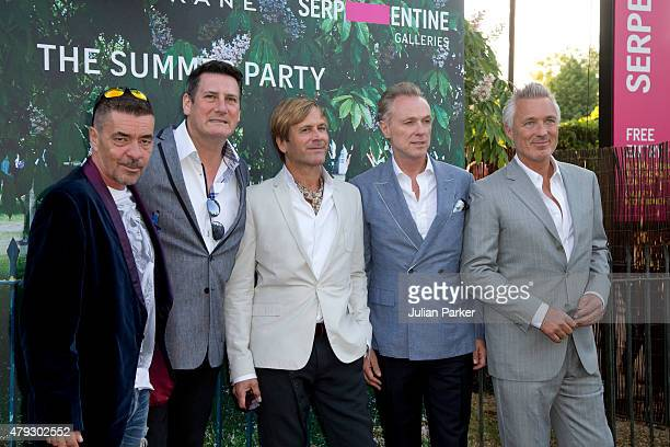 John Keeble Tony Hadley Steve Norman Gary Kemp and Martin Kemp from Spandau Ballet arrive at The Serpentine Gallery summer party at The Serpentine...