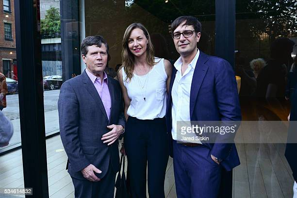 John Kegel Sasha Olney and Nick Olney attend Opening Reception of Saint Clair Cemin Psyche at Paul Kasmin Gallery on May 26 2016 in New York City