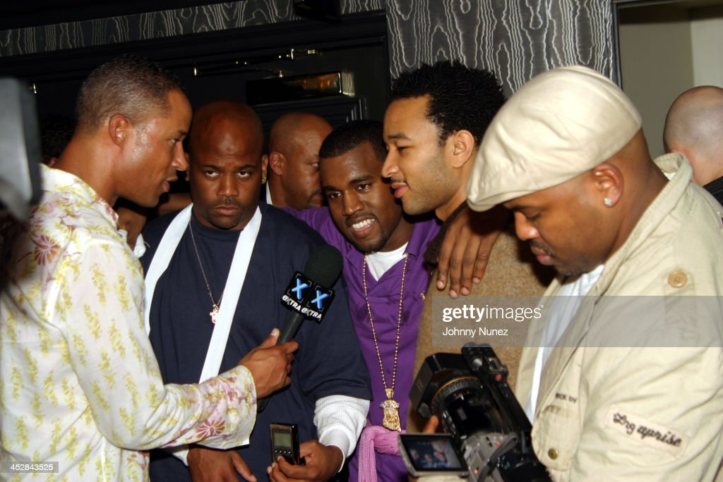 John Kelly, Dame Dash, Kanye West, John legend and Coodie film