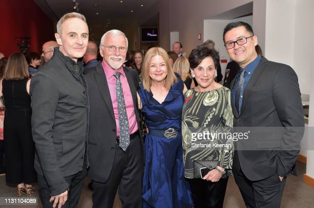 John Kelly Kerry English Olga Garay English Adele Yellin and Edgar Miramontes attend The CalArts REDCAT Gala 2019 Honoring Pete Docter and Henry...