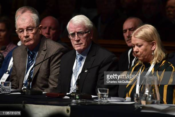John Kelly whose brother Michael died during Bloody Sunday during a press conference in reaction to today's Bloody Sunday prosecution announcement at...