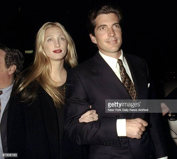 John Kennedy and Caroline Bessette attending party celebrating second anniversary of the magazine George held at Asia de Cuba Restaurant