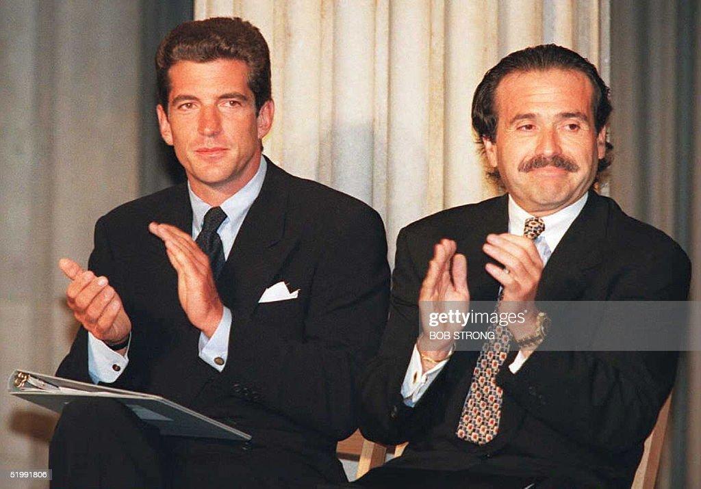 John Kennedy Jr. (L) and David J. Pecker, CEO of H : News Photo