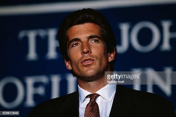 John Kennedy Jr Attends Ceremony Awarding the John Kennedy Prize