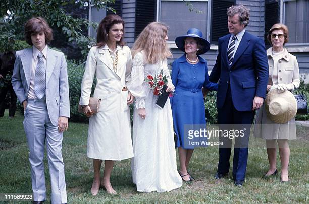 John Kennedy Jr Jackie Onassis Caroline Kennedy Rose Kennedy Ted Kennedy and Janet Auchincloss