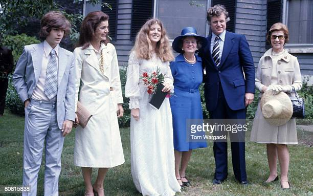 John Kennedy Jr Jackie Onassis Caroline Kennedy Rose Kennedy Ted Kennedy and Janet Auchincloss