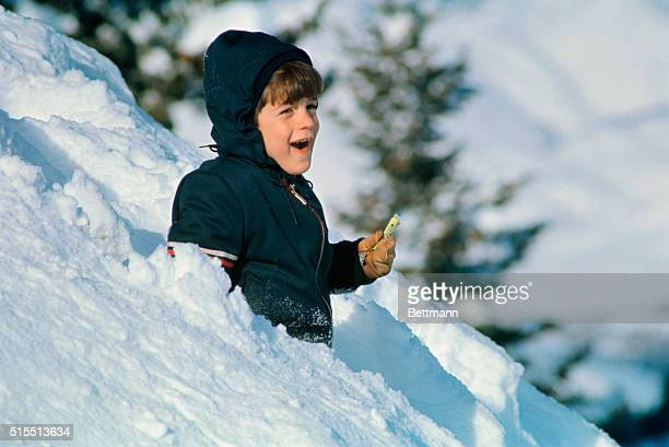 John Kennedy Jr son of the late president frolics in the snow at Bald Mountain in this Idaho resort January 1st John Jr is enjoying a winter vacation...