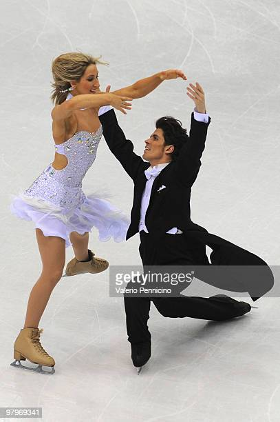 John Kerr and Sinead Kerr of Great Britain compete in the Ice Dance Compulsory Dance during the 2010 ISU World Figure Skating Championships on March...