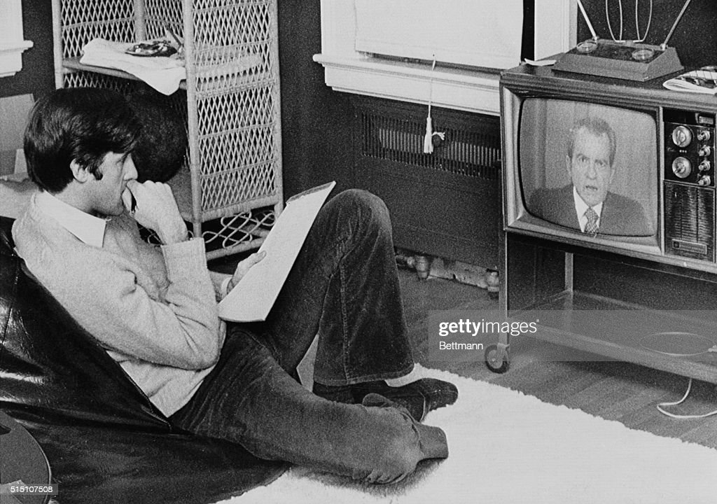 John Kerry Watching Nixon On Television Pictures Getty Images