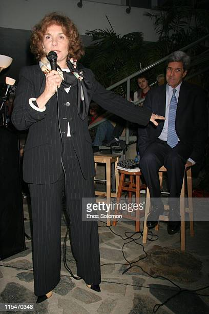 John Kerry and Teresa Heinz Kerry during John Kerry and Teresa Heinz Kerry Speak Sign This Moment on Earth at Dutton's Bookstore in Brentwood CA...