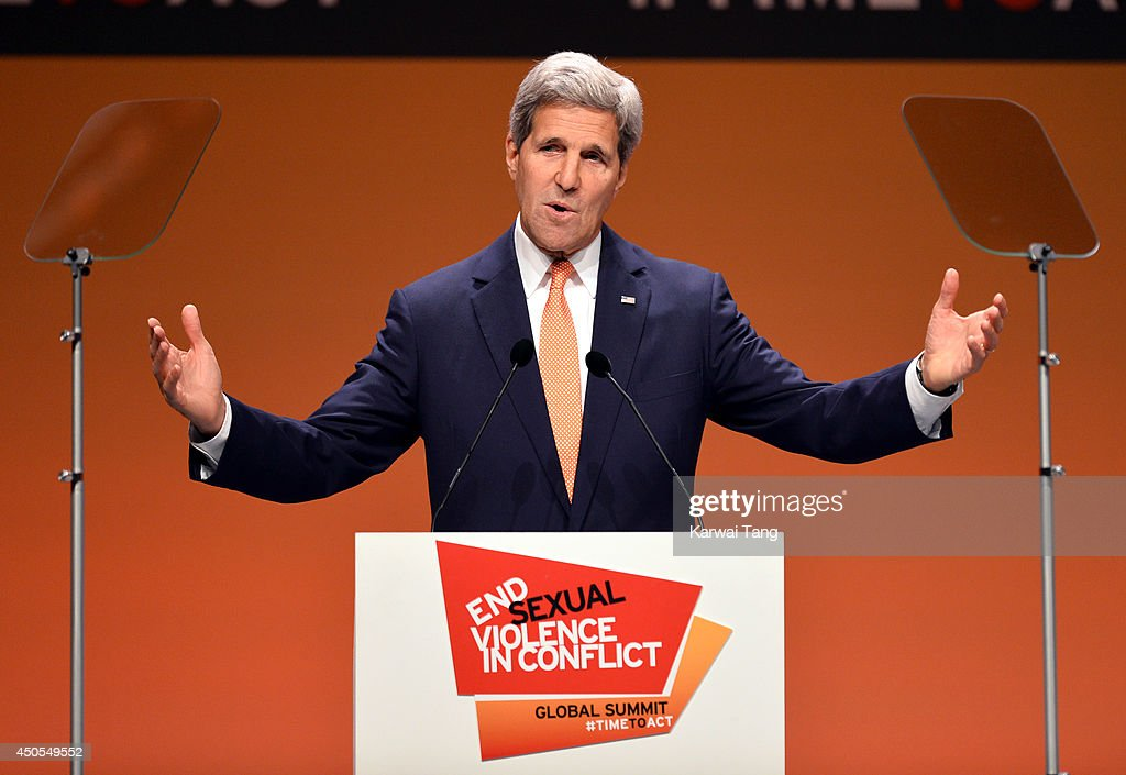 John Kerry attends the Global Summit to end Sexual Violence in Conflict at ExCel on June 13, 2014 in London, England.