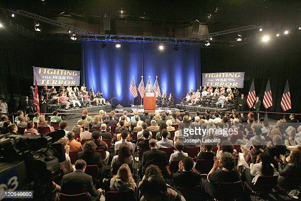 """John Kerry delivers his """"Fighting the War on Terror"""" speach at the Liacouras Center on the campus of Temple University in Philadelphia"""