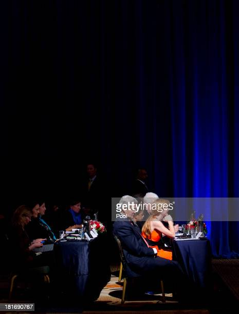 John Kerry US secretary of state and Samantha Power ambassador to the United Nations attend the International Civil Society event hosted by US...