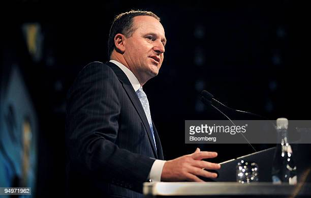 John Key New Zealand's prime minister speaks at a TransTasman Business Circle luncheon in Sydney Australia on Friday Aug 21 2009 New Zealand today...