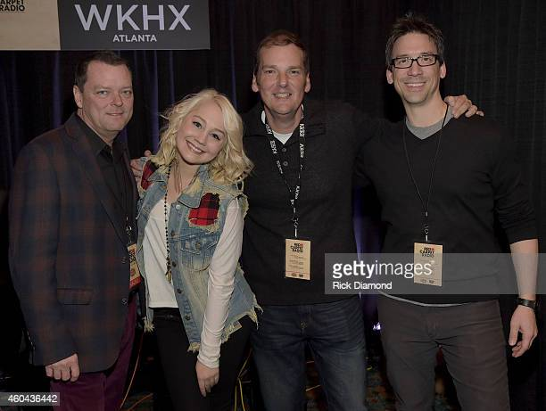 John Kilgo Cumulus Singer/Songwriter RaeLynn Cadillac and Greg Frey Kicks Radio attend Red Carpet Radio Presented By Westwood One For The American...