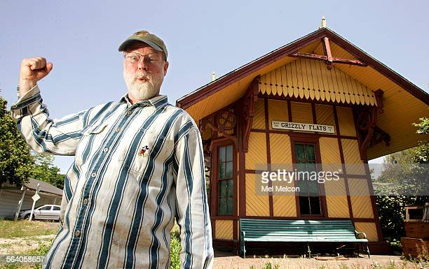 John Kimball stands in front of the Grizzly Flats train depot located in backyard of his parent's home in San Gabriel on May 3 2007 His late father...