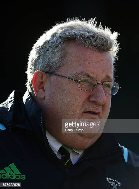 John Kingston Director of Rugby of Harlequins during the Aviva Premiership match between Bath Rugby and Harlequins at the Recreation Ground on...
