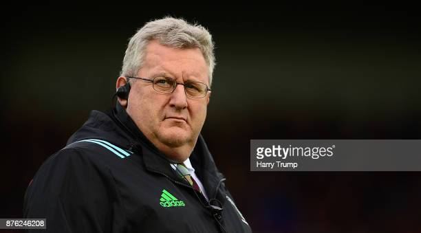 John Kingston Head Coach of Harlequins during the Aviva Premiership match between Exeter Chiefs and Harlequins at Sandy Park on November 19 2017 in...