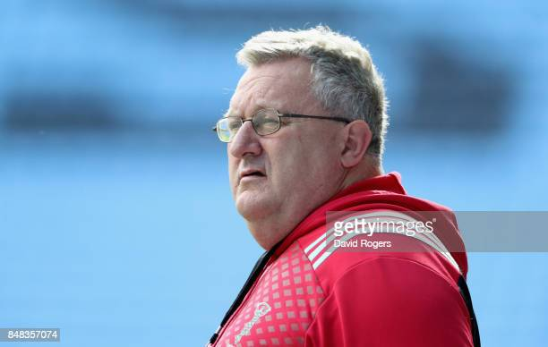 John Kingston the Harlequins director of rugby looks on during the Aviva Premiership match between Wasps and Harlequins at The Ricoh Arena on...