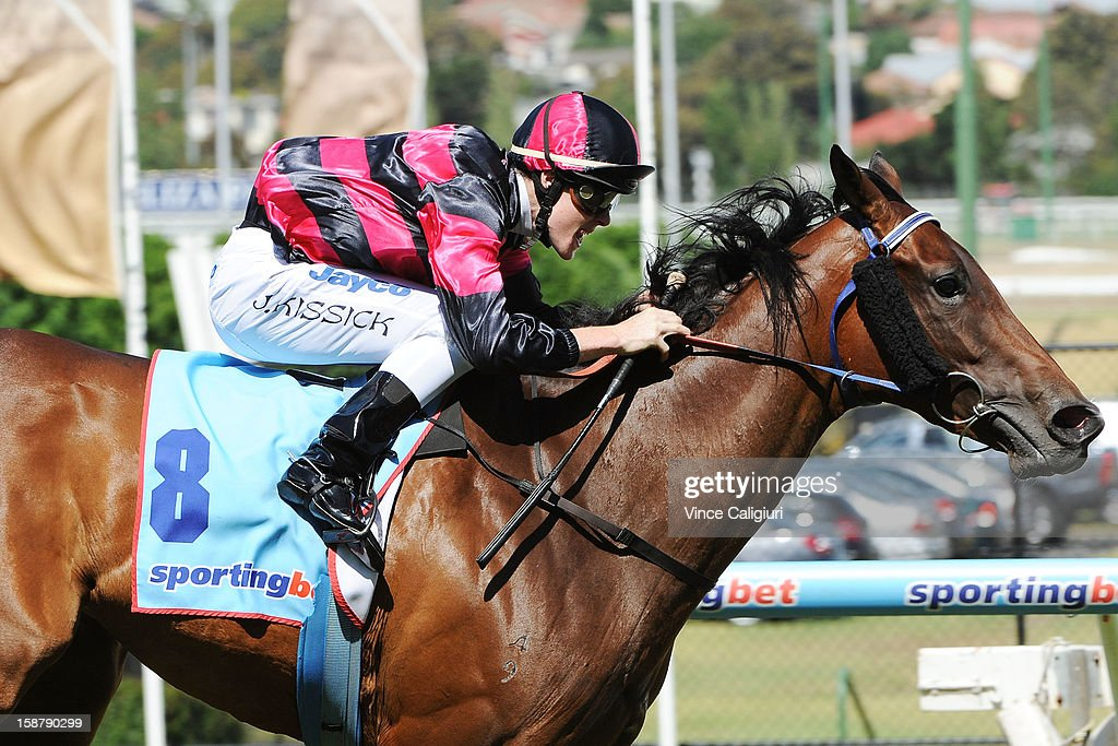 John Kissick riding Sumakaray wins Chandler MacLeod Handicap during Melbourne racing at Moonee Valley Racecourse on December 29, 2012 in Melbourne, Australia.