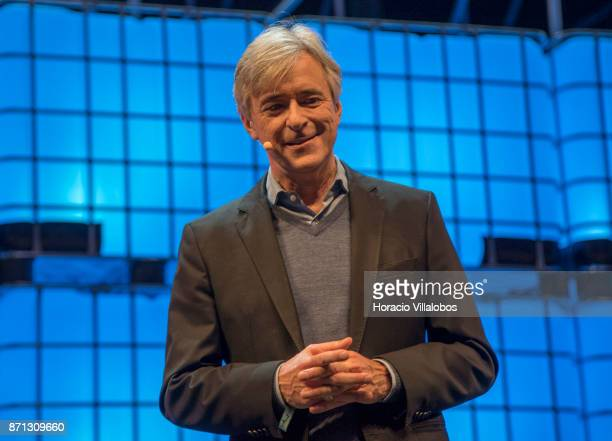John Krafcik CEO Waymo describes the company's project on 'A new way forward for selfdriving cars' during the second day of Web Summit in Altice...