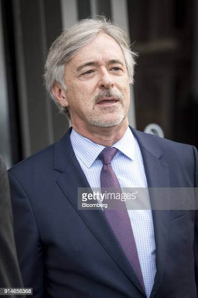 John Krafcik chief executive officer of Waymo Inc exits the Phillip Burton Federal Building and US Courthouse in San Francisco California US on...