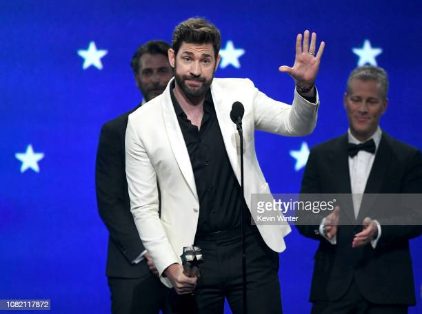 John Krasinski accepts the Best SciFi or Horror Movie award for 'A Quiet Place' onstage during the 24th annual Critics' Choice Awards at Barker...