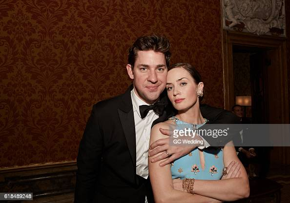 John Krasinski Emily Blunt Wedding.John Krasinski And Emily Blunt Attend George Clooney And
