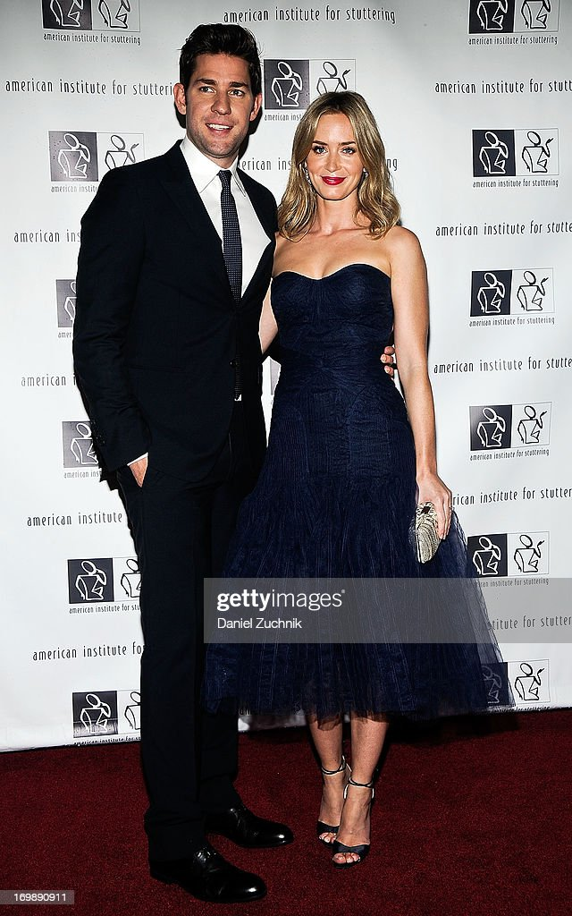 John Krasinski and Emily Blunt attend the 7th Annual 'Freeing Voices, Changing Lives' Benefit Gala at Tribeca Rooftop on June 3, 2013 in New York City.