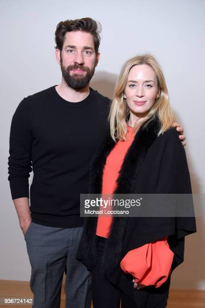"John Krasinski and Emily Blunt attend the ""Final Portrait"" New York Screening After Party at Levy Gorvy Gallery on March 22, 2018 in New York City."