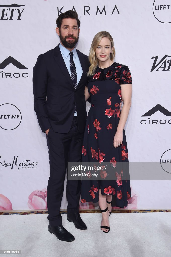 John Krasinski and Emily Blunt attend Variety's Power of Women: New York at Cipriani Wall Street on April 13, 2018 in New York City.