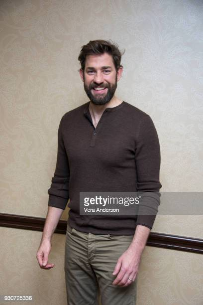 John Krasinski at 'A Quiet Place' Press Conference at the Omni Hotel on March 10 2018 in Austin Texas