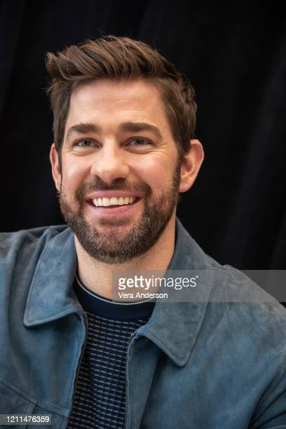 John Krasinski at the A Quiet Place Part II Press Conference at the Mandarin Oriental Hotel on March 08 2020 in New York City