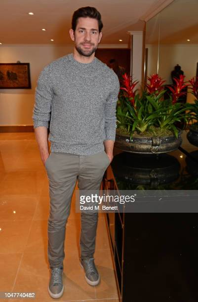 John Krasinski attends a special BAFTA Screening of Paramount Pictures' 'A Quiet Place' at The Mayfair Hotel on October 8 2018 in London England