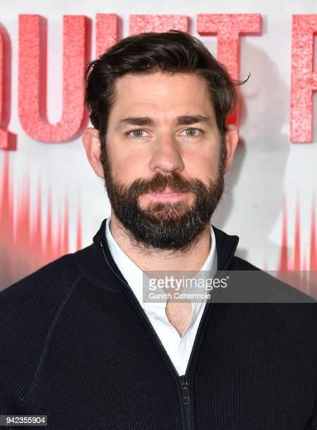 John Krasinski attends an immersive VIP Fan Screening of 'A Quiet Place' on April 5 2018 in London England