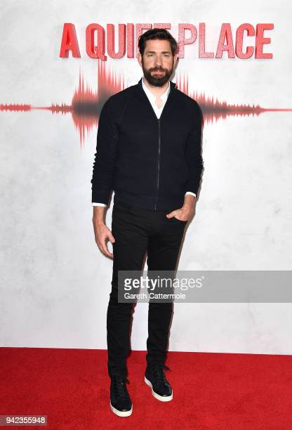 John Krasinski attends an immersive VIP Fan Screening of 'A Quiet Place' on April 5, 2018 in London, England.