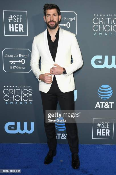 John Krasinski attends the 24th annual Critics' Choice Awards at Barker Hangar on January 13 2019 in Santa Monica California