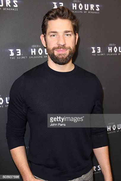 John Krasinski attends the Miami Fan Screening of the Pramount Pictures film '13 Hours' at the AMC Aventura on January 7 2016 in Miami Florida