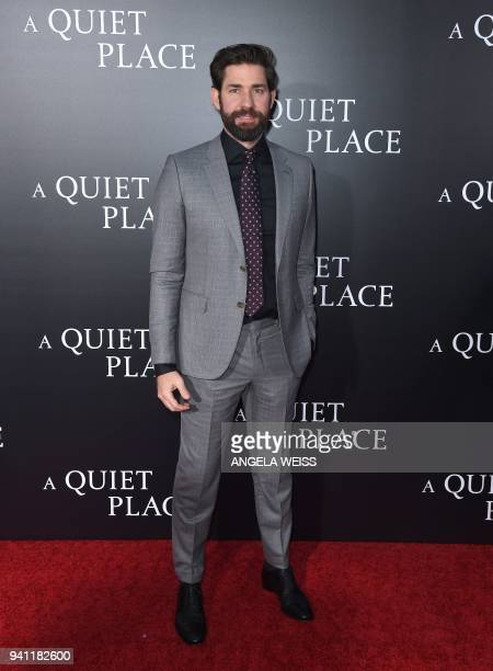 John Krasinski attends the Paramount Pictures premiere for 'A Quiet Place' at AMC Lincoln Square Theater on April 2 2018 in New York City / AFP PHOTO...