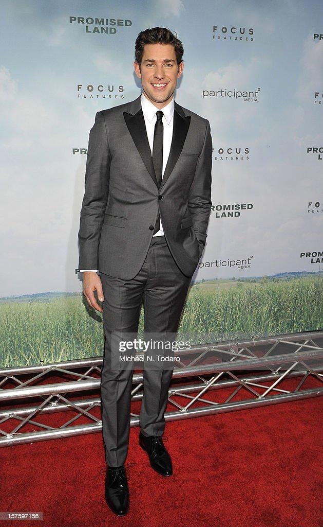 John Krasinski attends the 'Promised Land' premiere at AMC Loews Lincoln Square 13 on December 4, 2012 in New York City.