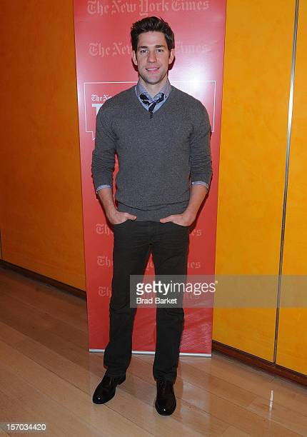 John Krasinski attends TimesTalk Presents An Evening With Marion Cotillard Matt Damon Gus Van Sant>> at TheTimesCenter on November 27 2012 in New...