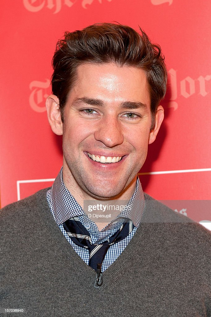 John Krasinski attends TimesTalks presents An Evening With Matt Damon & Gus Van Sant at The Times Center on November 27, 2012 in New York City.