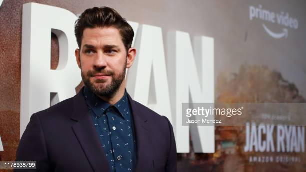 John Krasinski attends Tom Clancy's Jack Ryan Season Two Premiere at Metrograph on October 29 2019 in New York City