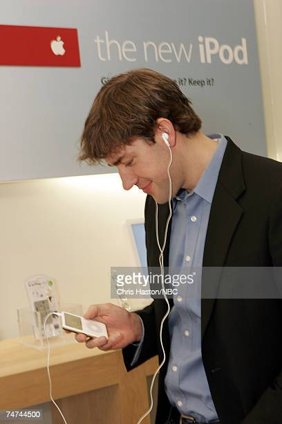 """John Krasinski, co-star of NBC's hit television show """"The Office"""" does his holiday shopping and catches his favorite television show on the new iPod..."""